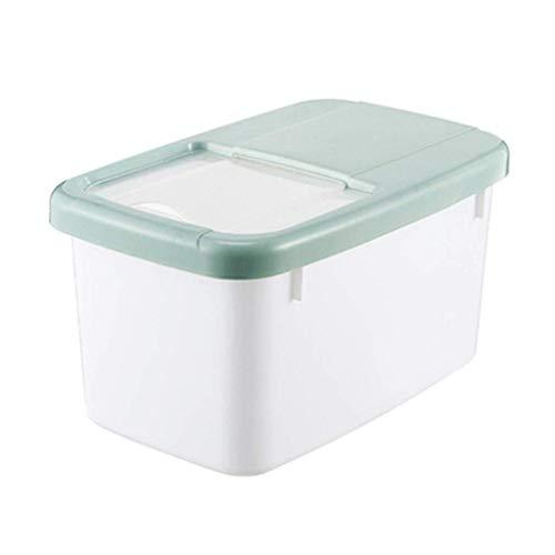 ZXL Emmer rijstcilinder keuken rijstjerrycan huismeemmer gemaakt van PVC, opbergdoos voor de keuken, muesli-container (kleur: blauw, maat: 34 x 21 *