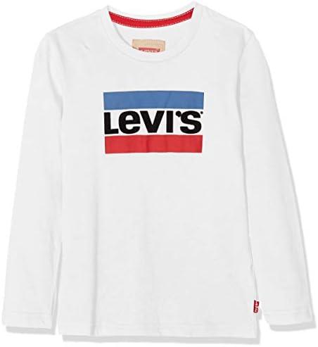 Levi's Camiseta Manga Larga Algodón para Niños Roja