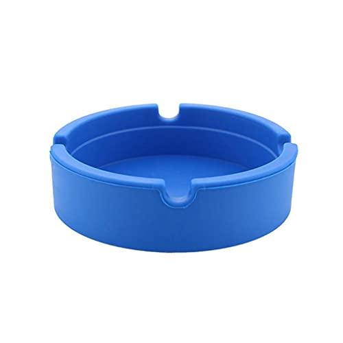 Aiglen Cenicero de silicona de Color caramelo de alta temperatura y baja temperatura, soporte de cigarrillo anti escaldado, accesorio para fumar ecológico multicolor (Color : Blue)