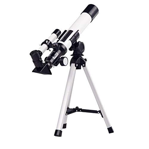 Einsteiger-Teleskop for Astronomie, 40mm Blende Refraktor Glas Himmel monokulare Kindermonoscope Compact Raum Spektiv, White-voll vergütete SKYJIE (Color : White)