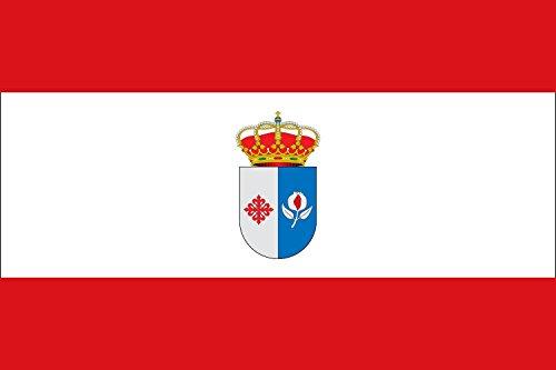 magFlags Bandera Large Granátula de Calatrava, Ciudad Real, España | Bandera Paisaje | 1.35m² | 90x150cm