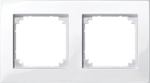 Merten 515219 M-PLAN-Rahmen, 2fach, polarweiß glänzend