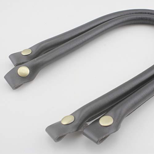 Schwarze Kunstledergriffe, 50 cm, Handtaschengriffe, Handtaschengriff für die Herstellung von Handtaschen, Geldbörsen, Ersatzgriff, fixiert durch Druckknopf, ein Paar (2 Stück) pro Charge CF98