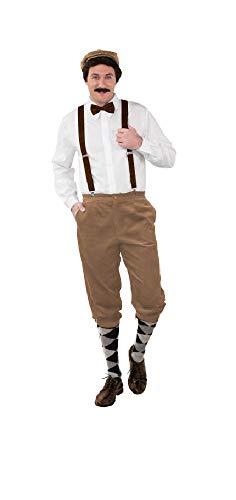 shoperama Hochwertige Knickerbocker Cord Hose 20er Jahre Herren Peaky Blinders Paper Boy Oktoberfest Tracht Kostüm-Zubehör, Farbe:Beige, Größe:46/48