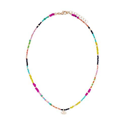 Parfois - Collar Corto con Abalorios Ojo - Mujeres - Tallas Única - Multicor Brilhante