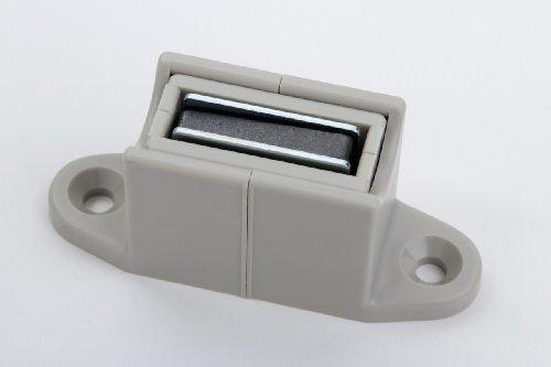 1 magnetische klem voor storenstangen, rolluiken krukstangen, kunststof grijs, 16 x 17 x 23 mm