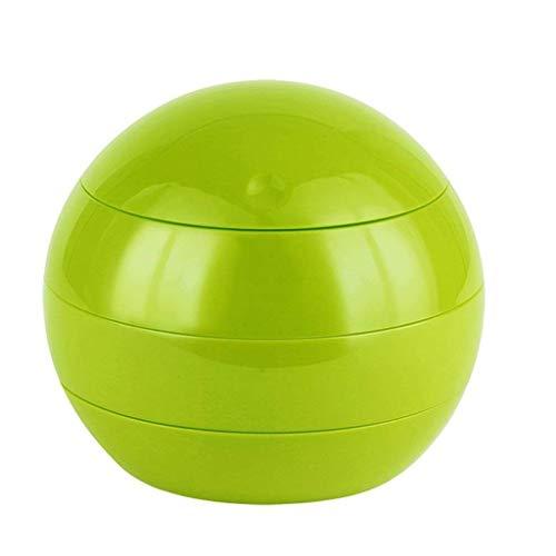 JJZXT Aufbewahrungsbox - DREI-Schicht Rotierende Kugel-Form-Verfassungs-Organisator Ständer Schmuckhalter Staub frei Plastik Lippenstift-Lippenglanz (Color : Green)