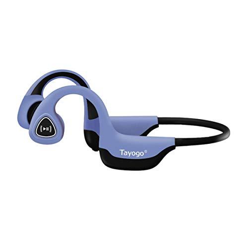 Auriculares De Conducción ósea, Bluetooth 5.0 Conducción ósea Inalámbrica para Correr, Andar En Bicicleta, Correr-Azul