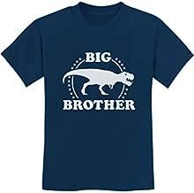Big Brother Shirt Gift for Elder Sibling Trex Raptor Kids T-Shirt Medium Navy