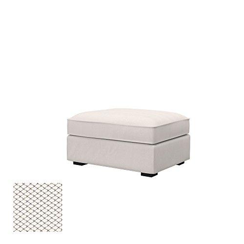 Soferia - Ikea KIVIK Fodera per poggiapiedi, Nordic White