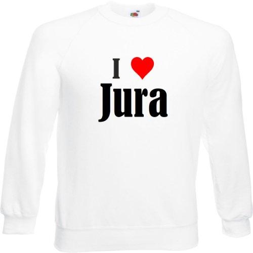 Reifen-Markt Sweatshirt I Love Jura Größe L Farbe Weiss Druck Schwarz