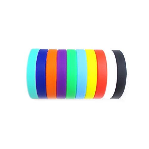 Silikon-Armband, 10 Stück für Herren und Damen, Sport-Party-Dekoration, universelles Armband, mehrfarbig