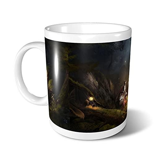 Tazze riutilizzabili Dungeons and Dragons Fine Bone China Tazza in ceramica isolata per caffè/caffè Tazza classica per tè
