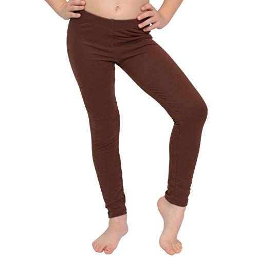 Stretch is Comfort Girl's Oh So Soft Leggings Brown X-Large