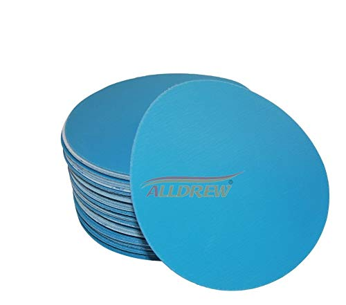 125mm Nass und Trocken Schleifscheiben 10x 240 320 400 600 800 KORN Klettband Wasserdicht 5'' Schleifpapier 50 Stück Gemischt für Exzenterschleifer