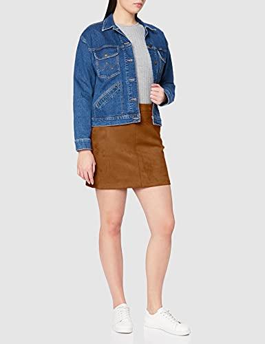 Vero Moda Vmdonnadina Faux Suede Short Skirt Noos Falda, Marrón (Cognac Cognac), Large para Mujer
