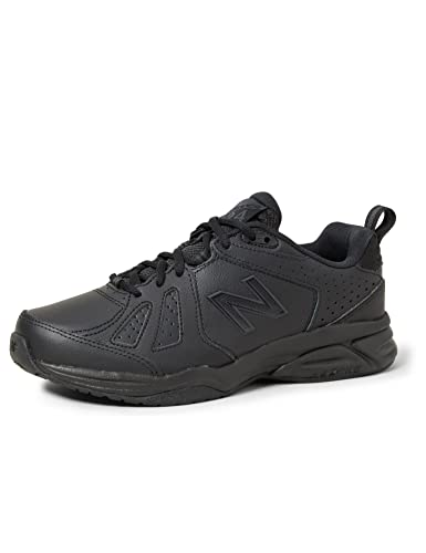 New Balance Women's 624 Cross Training Shoes, Black, 9.5 US