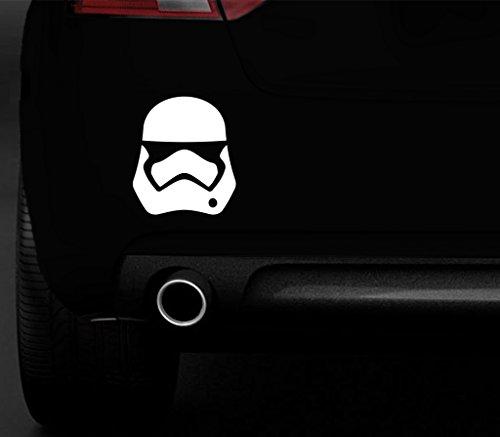 """Storm Trooper Kunststoff-Aufkleber in weiß aus dem Star Wars Film """"Das Erwachen der Macht"""" für Auto, Wand, Fenster, Möbel, Laptop"""