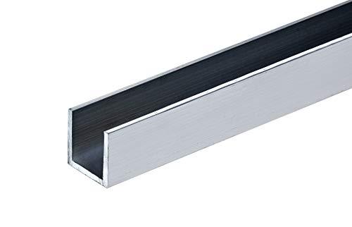 Aluminum U Profil Schiene Alu Walzblank T66 U-Profil Stange Aluprofil (10x10x10x2 mm - 1000 mm)