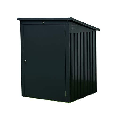 Koll Living Garden Mülltonnengarage für 1 Mülltonne, aus Metall, anthrazit - aus verzinktem Stahlblech - bietet Platz für eine Mülltonne, 1m²