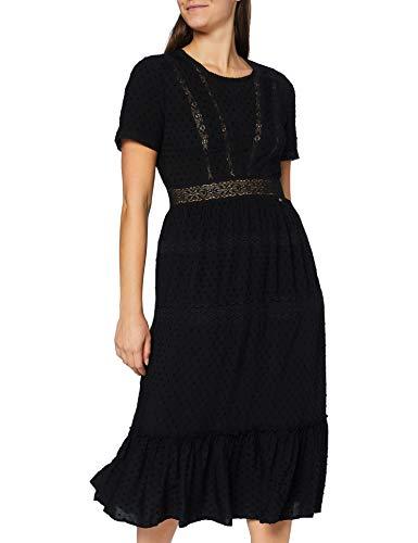 Superdry Belle Midi Dress Vestido Casual, Negro, XXS para Mujer