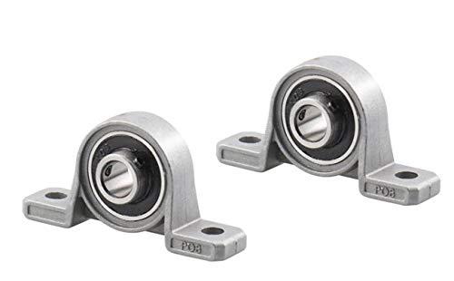 ARUNDEL SERVICES EU 2 stuks KP08 8 mm boringdiameter zelfrichtende gemonteerde staande lager lager zinklegering goede kwaliteit voor CNC voor 3D-printer schroefdraadspil 3D-printer