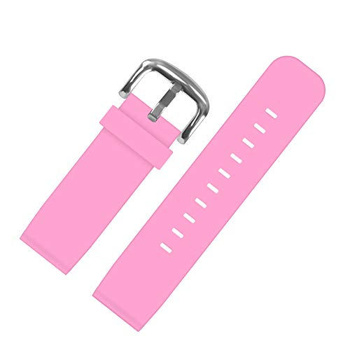 Kids Smartwatch Replacement Bands,Compatible with PROGRACE VTech SZBXD Sonic The Hedgehog Jaybest MeritSoar Silicone Watch Strap 18mm for Boys and Girls Gifts(Pink)