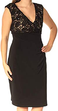 Connected Apparel Womens Lace Ruched Cocktail Dress