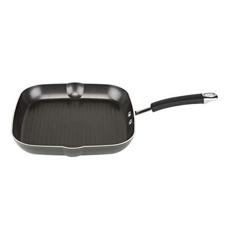Prestige Dura Forge Pro Poêle Grill, poêle antiadhésive adaptée à Toutes Les plaques de Cuisson, Dont à Induction, poêle carrée en Aluminium forgé à Froid, 28 cm