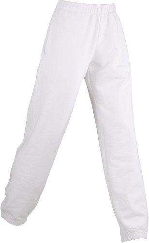 Damen Jogginghose aus formbeständiger Sweat-Qualität, Farbe:white;Größe:L
