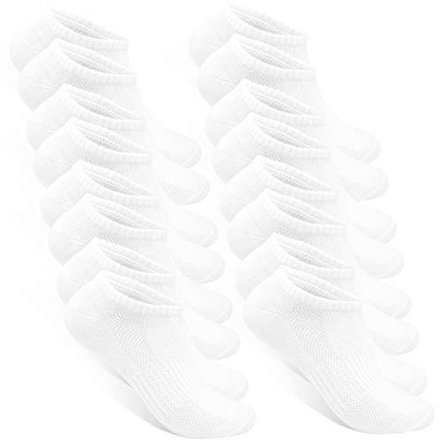 STYLE FOREVER Premium Sneaker Socken Damen und Herren 8 Paar (8x Weiß, 35-38)