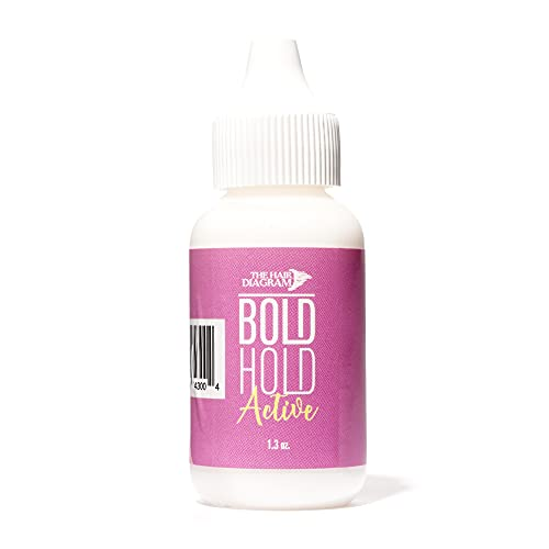 The Hair Diagram - Bold Hold Active - Strong Hold Glue For Wigs and Hair Systems - Invisible Bonding - Formulated For Oily Skin - Non Toxic - No Odor or Latex - Humidity Resistant & Waterproof - 1.3oz