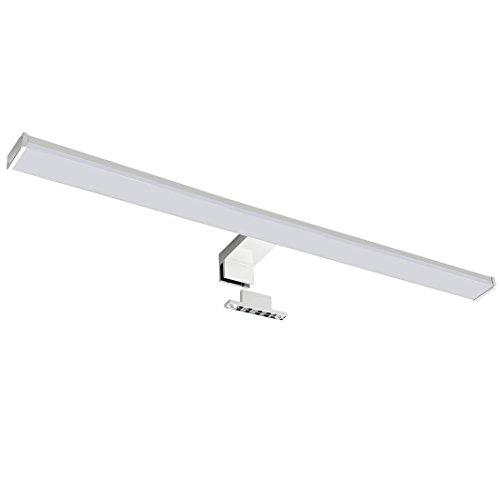 Sebson Lámpara LED Espejo, baño IP44 60cm, Pinza + Armario, luz Blanca Neutra 4000K, 600x108x40mm, 12W, 900lm