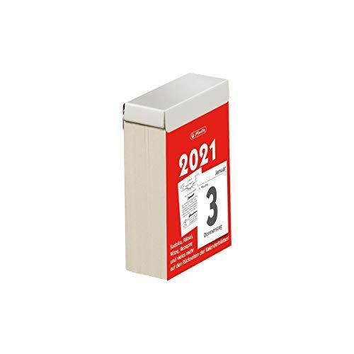 herlitz 50030088 Abreißkalender 2021, Größe 3 (5,5 x 8 cm), 1 Stück