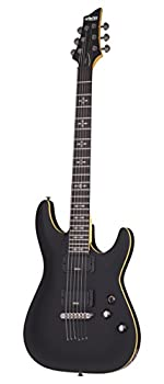 Schecter 6 String Solid-Body Electric Guitar Aged Black Satin  3660