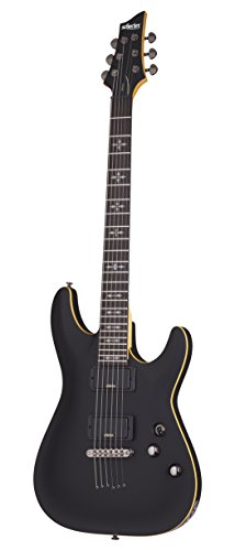 Schecter 6 String Solid-Body Electric Guitar, Aged Black Satin (3660)