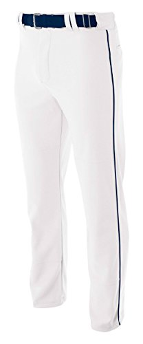 Pro Style Open Bottom Baggy Cut Baseball Pants WHITE/ NAVY 3XL