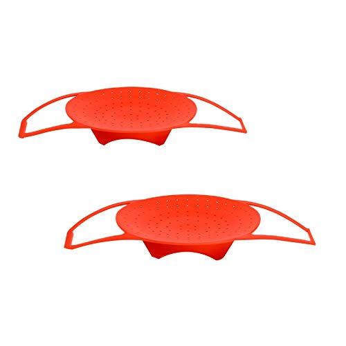 Ctzrzyt Molde para Hornear de Silicona Elevador de Eslinga, Rejilla para Huevos y Rejilla para Asar Vaporizador Plegable RetráCtil