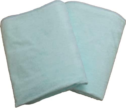 防水シーツ シングル (100×205cm) 2枚セット ロングパイル おねしょシーツ フラットタイプ 介護シーツ (ブルー)
