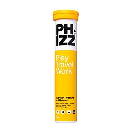 Phizz Multivitamins Rehydration Tablets - High Strength Vitamin C and Zinc - Orange (20 Tablets)
