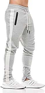 FLYFIREFLY Men's Gym Sport Jogger Pants Bodybuilding Workout Running Jogger Tapered Sweatpants
