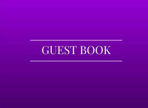 Guest Book: Purple - Airbnb, Guest House, Hotel, Bed and Breakfast, Lake House, Cabin