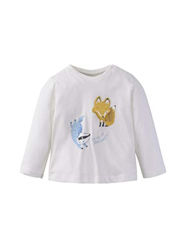 TOM TAILOR Kids T- Shirt Placed Print, Blanc (Cloud Dancer|White 1610), 68 Bébé garçon