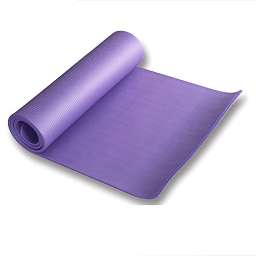 Durable de alta densidad respetuoso del medio ambiente antideslizante no tóxico ejercicio NBR Yoga práctica Mat para Yoga Pilates