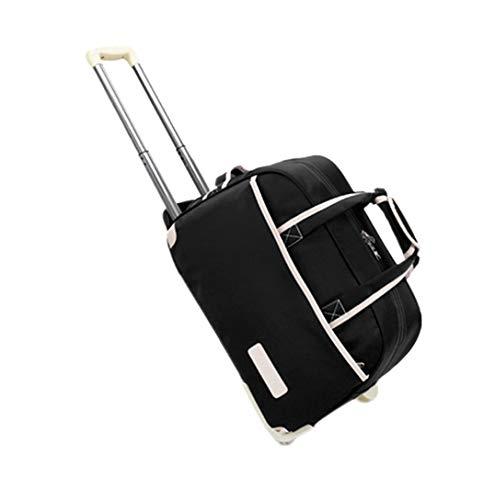 Rollende Koffer wasserdichte Travel Gepäcktasche - Unisex Business Verdicken Rollen Handtasche(Schwarz)