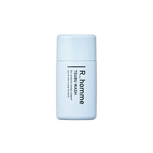 R-homme (アールオム)ツブウォッシュ 酵素洗顔 約60回分 メンズ洗顔料 【毛穴黒ずみケア 】 炭 クレイ 配合 角栓 角質ケア「つっぱらない 肌にやさしい」 ベタつき テカリ防止 無添加 45g(朝晩使用 約1ヶ月分)