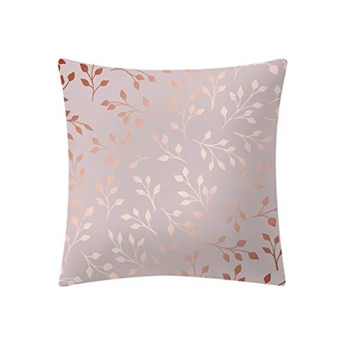 UFACE Mixtes Housses de Coussin Imprimé Floral Plante Bâtiment Doux Carréesth étisant 45x45 Zip démontable Lavables pourlaMaisonTaies d'oreillers décorativess,Cadeau de Valentine's Day