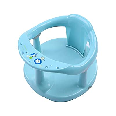 Newborn Infant Baby Bath Seat, Non-Slip Infants Baby Bath Chair for Bathtub, Cute Shape Baby Shower Chairs for Tub Sitting up, Surround Bathroom Seats for Baby 6-18 Months (Light Blue)