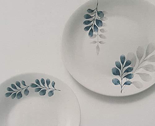 Vajilla Botánica azul para 6 personas, 18 piezas Bormioli Rocco