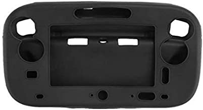 for Wii U Gamepad Controller Protective Soft Rubber Shell Case Cover Wii U Controller (Black)